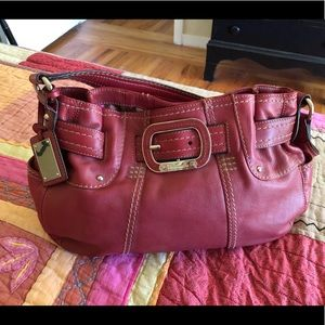 Gorgeous Red Leather Hobo Bag by Tignanello